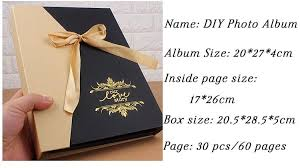 Photo Album Pages Sticky Elegant Diy Photo Album Ribbon Gift Set Wedding Children Family