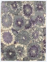 Purple Flower Rug Directory Galleries Modern Floral Design Rugs