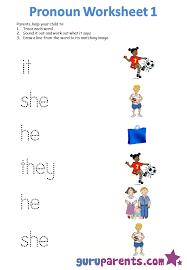 pronoun worksheets  guruparents with pronoun worksheet  from guruparentscom