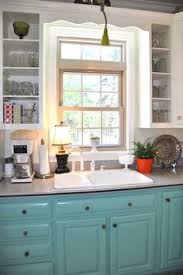 Painted Kitchens Cabinets I Want To Do This In The Kitchen White Upper Cabinets And A Color