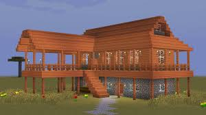 minecraft how to build a wooden savanna house youtube