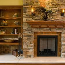 fireplace veneer over brick interior design