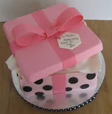 from pattycakes kitchen how to make a gift box cake baking