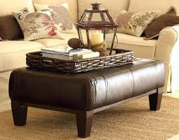Ottoman Leather Coffee Table Rectangular Leather Ottoman Leather Ottoman Coffee Table With Cool