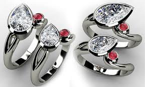 2 wedding rings birthstone engagement rings 2 diamond rings
