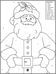 christmas color number math worksheets complete picture