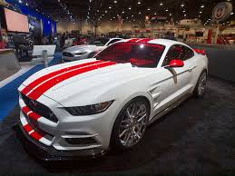 Silver Mustang Black Rims 14 Tuned Ford Mustangs At Sema Autobytel Com