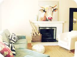 my house of giggles living room refresh a diy kilim aztec rug living room refresh a diy kilim aztec rug and an abstract cow painting