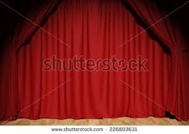 Curtains On A Stage Red Curtain Stage 3d Render Stock Illustration 336519875