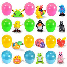 easter egg stuffers joyin 12 pieces easter eggs prefilled with assorted wind up