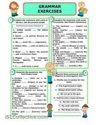 resultado de imagen de simple present worksheets material