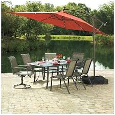 awesome rectangular patio umbrella with solar lights and rectangle