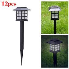 12 x led solar light outdoor garden post carriage outdoor solar
