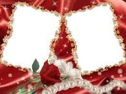 red flower frame transparent png png mart