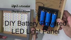 diy battery powered portable led light panel mehs episode 54