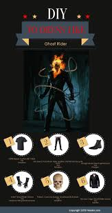 Motorcycle Rider Halloween Costume Ghost Rider Guide Anthony Black Leather Biker
