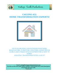 casting home remodel and design experts for new reality show