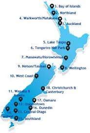 auckland australia map map of new zealand s island by theresagrieben