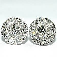 back diamond earrings big diamond stud earrings diamond earrings studs 8mm big 0 52ctw