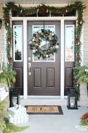 Outdoor Entry Christmas Decor by Holiday Cheer Outdoor Christmas Decorations Setting For Four