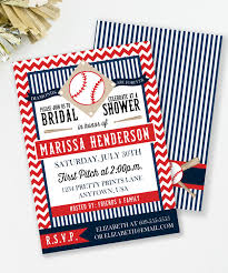 baseball bridal shower invitation baseball couples shower