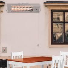 patio heater bulbs 1 8kw wall mounted electric patio heater halogen tube quartz bulb
