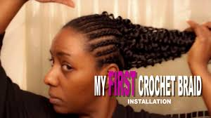 Pre Curled Hair Extensions by My First Crochet Braid Install On Natural Hair Shakengo Pre Loop