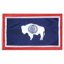 American Flag Header Wyoming State Flag Nylon And Woven Polyester Flags Made In The Usa