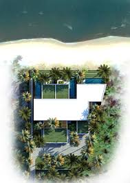 villa resort luxury beachhouse overhead landscape layout beautiful