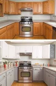 Two Color Kitchen Cabinets Complimentary Color For Oak Cabinets Google Search Kitchen