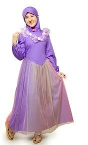 Baju Muslim Grosir gamis anak syar i terbaru aini 160502 purple jual baju muslim anak
