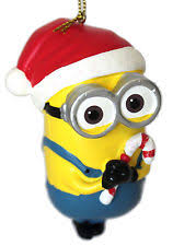 despicable me dave and carl with santa hats minions