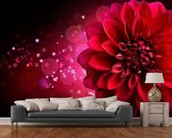 floral wallpaper u0026 flower wall murals wallsauce usa