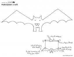 Halloween Stencils Printable by Made By Joel Paper Bat Puppet U2013 Halloween Kids Craft