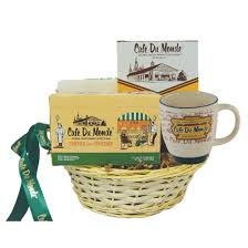 new orleans gift baskets café du monde original market coffee stand
