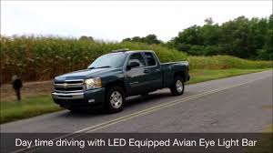 led equipped light bar avian eye 27in tir youtube