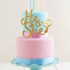 gender reveal cake topper gold glitter he or she cake topper build a birthday