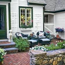Front Porch Planter Ideas by Patio Small Front Yard Patio Ideas Christmas Front Porch Ideas