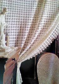 Crochet Lace Curtain Pattern 76 Best Crochet Curtains Images On Pinterest Crochet Curtains