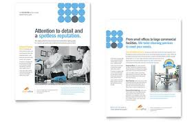 commercial cleaning brochure templates janitorial office cleaning