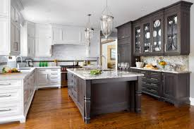 are two tone cabinets out of style two toned kitchen em or em