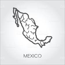 Mexico World Map by Mexico Linear Map Icon Shape Of Country For Atlas Geography