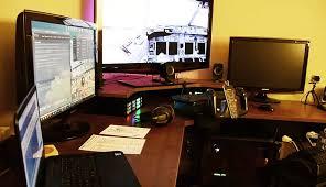 Flight Sim Desk The Flight Sim Deck My Rig