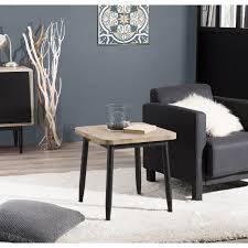 canapé industriel bout de canapé design industriel noir et bois olana so inside