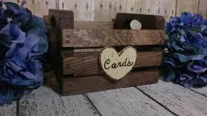 Country Shabby Chic Wedding by Rustic Wedding Card Box Rustic Wedding Decor Barn Wedding