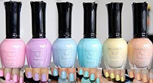 pedicure colors to the stars amazon com kleancolor nail lacquers 6 color new pastel spring