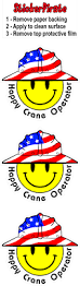 3 happy crane operator smiley usa hardhat oilfield helmet