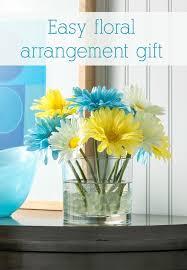 how to make floral arrangements easy flower arrangement gift in minutes mod podge rocks