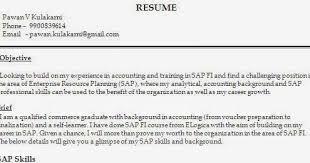 Sap Experience On Resume Accounts Payable Resume