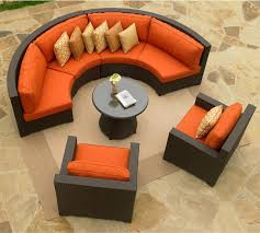 Curved Patio Furniture - Round outdoor sofa